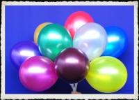Luftballons Metallic, 75-85 cm Umfang, 100 Stück, Farbauswahl