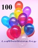 Luftballons, Kristall, Bunt gemischt, 28-30 cm, 100 Stück