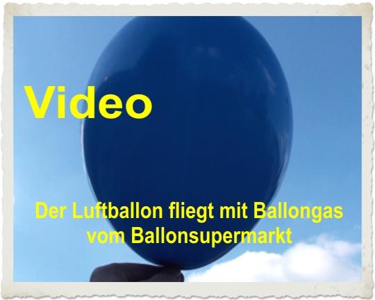 Luftballon fliegt mit Ballongas