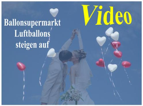 ... vom Ballonsupermarkt-Onlineshop steigen auf. Hochzeit mit Luftballons